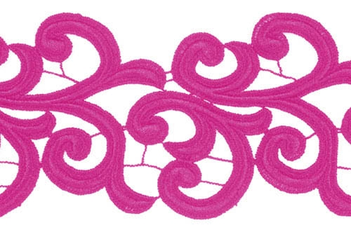 Nadine Lace Ribbon - hawaiian pink