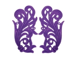 Tamara Lace Pair - purple