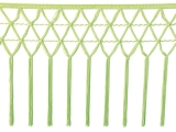 knotted crocher frędzle 30cm CHR-C - electric green