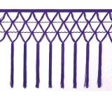 knotted crocher frędzle 30cm CHR-C <span class='shop_red small'>(purple rain)</span>
