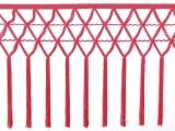 knotted crocher frędzle 30cm CHR-C - fluorescent red