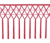 knotted crocher frędzle 30cm CHR-C <span class='shop_red small'>(fluorescent red)</span>