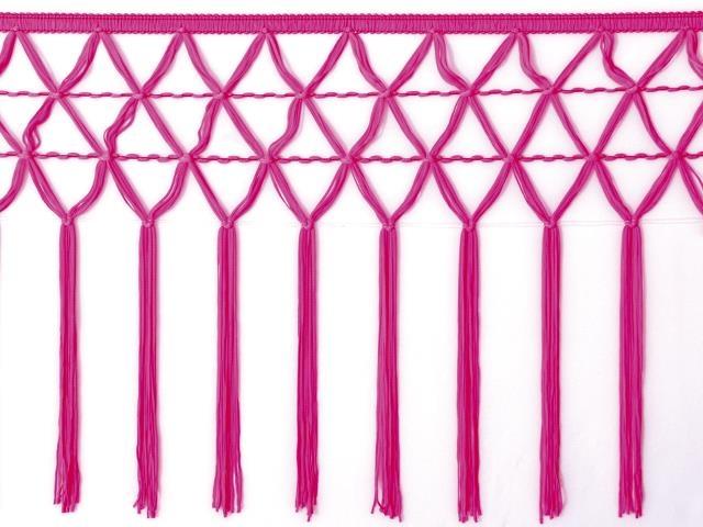 knotted crocher frędzle 30cm CHR-C - pink fizz