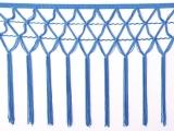 knotted crocher frędzle 30cm CHR-C - electric blue