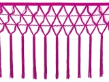 knotted crocher frędzle 30cm CHR-C - fuchsia pink