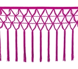 knotted crocher frędzle 30cm CHR-C <span class='shop_red small'>(fuchsia pink)</span>