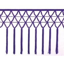 knotted crocher frędzle 30cm CHR-C - purple rain