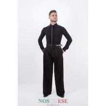 Koszula Męska z Kołnierzykiem - czarny na zamówienie