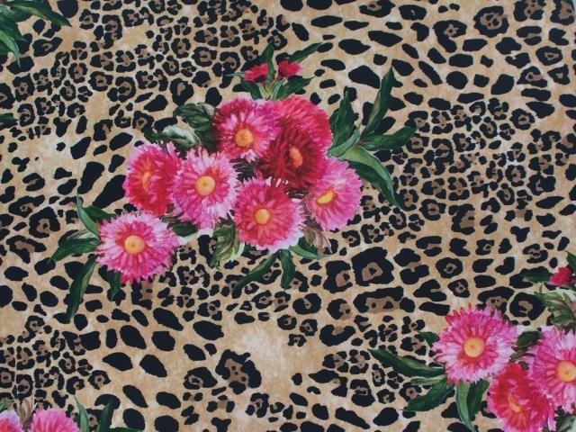 Floral Animal/pink-brown - lycra
