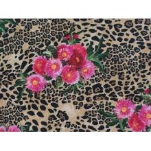 Floral Animal/pink-brown - crepe