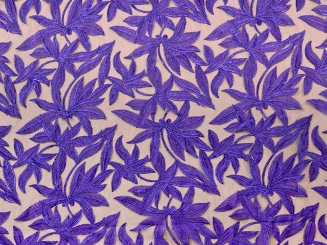 Helena Embroidered Net SALE! - cobalt