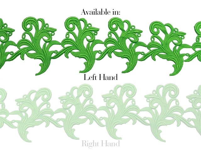 Tamara Ribbon Lace Left* - fluorescent green