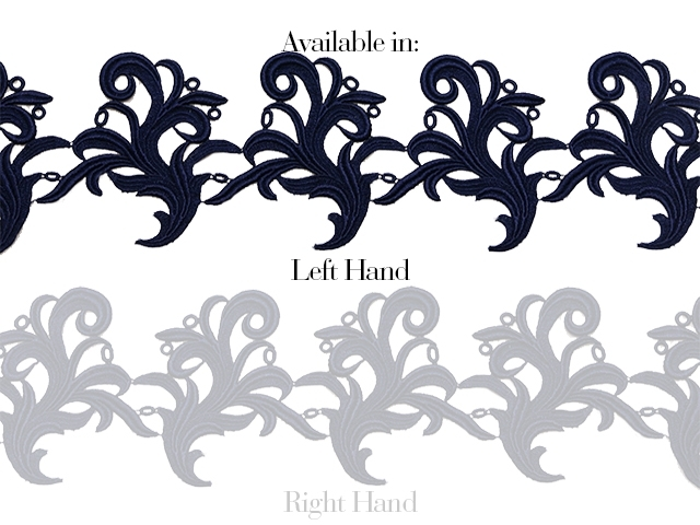 Tamara Ribbon Lace Left* - midnight sky