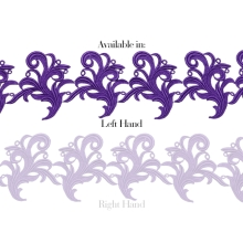 Tamara Ribbon Lace Left* - purple rain