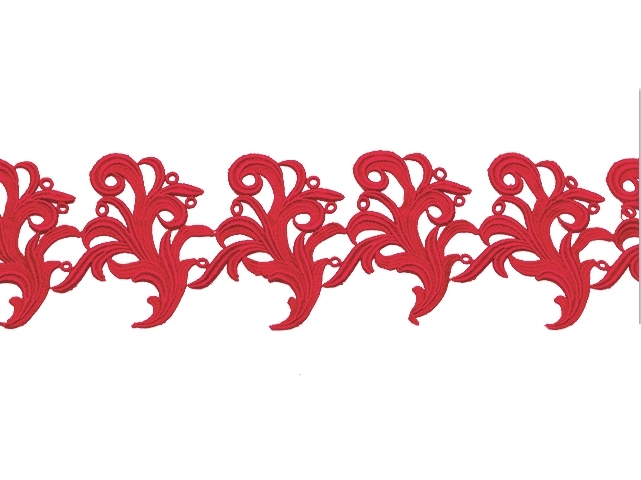 Tamara Ribbon Lace Left* - fluorescent red