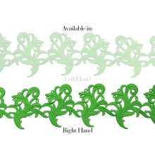 Tamara Ribbon Lace Right - fluorescent green