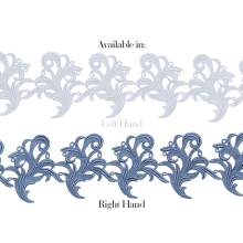 Tamara Ribbon Lace Right - blueberry
