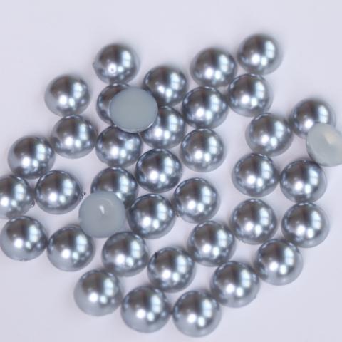 Perły dark silver grey