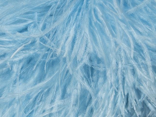 feather boa CHR-C/ICE BLUE