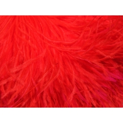 feather boa CHR-C/HOT RED