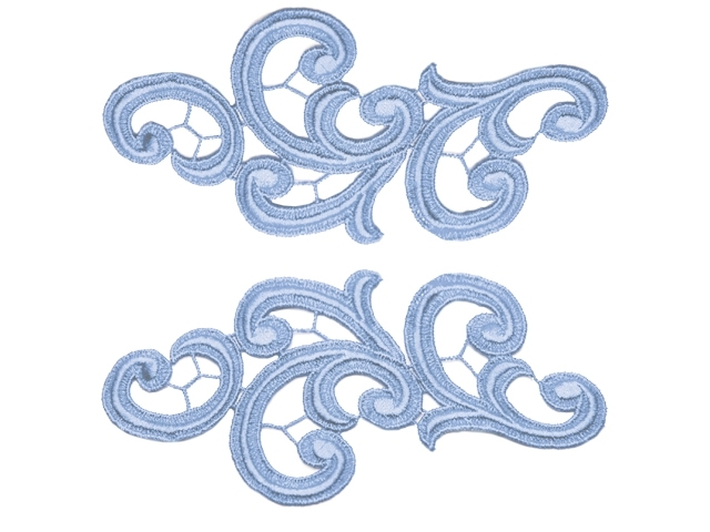 emma lace pair/BLUEBELL