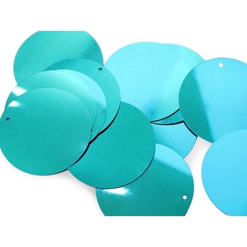 Cekiny 50mm blue zircon