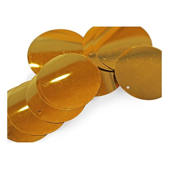 Cekiny 50mm gold