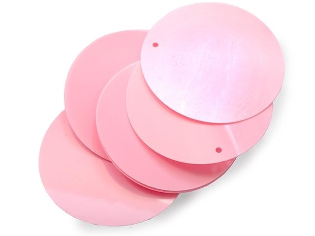 Cekiny 50mm sugar pink