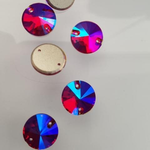 Okrągłe light siam shimmer 14mm