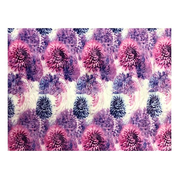 Dhalia print velvet burnout multi-pink