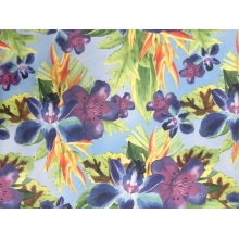 Floral infusion on georgette multi blue
