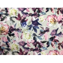 Watercolour floral print on georgette