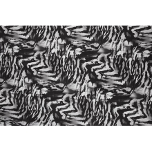 Vibrance Printed Mesh - black-white