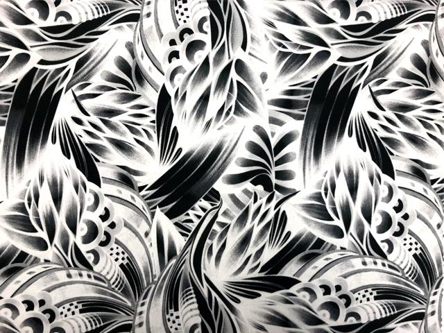 African Medley Printed Crepe - cream-brown