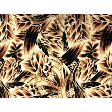 African Medley Printed Crepe - saffron-brown