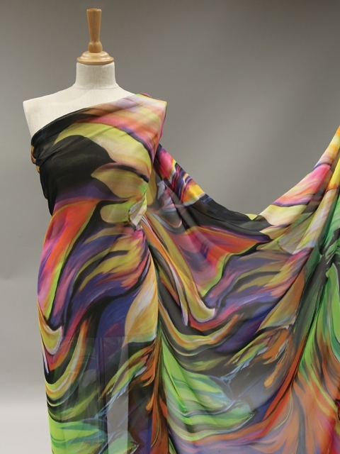 Abstract Swirl Georgette