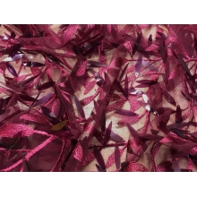 Willow Sequin on Tulle - wine