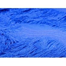 Scalloped All Over Fringe on Net - blue