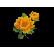 Imperial Flower Motyw  - saffron on orange
