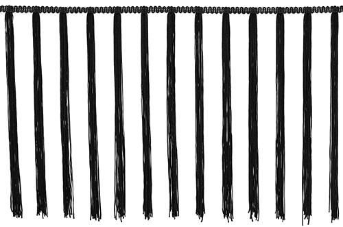 Frędzle tassel elastyczne DSI - 30cm, black