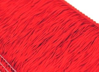 Frędzle elastyczne 15, 30 cm DSI  - scarlet