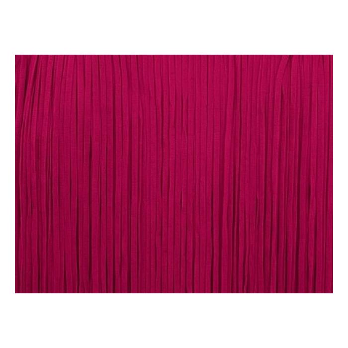 Frędzle płaskie elastyczne 25cm - burgundy