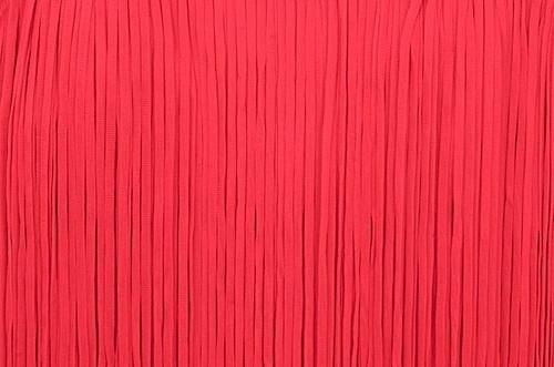 Frędzle płaskie elastyczne 25cm - scarlet