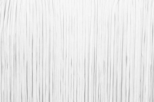 Frędzle płaskie elastyczne 25cm - white