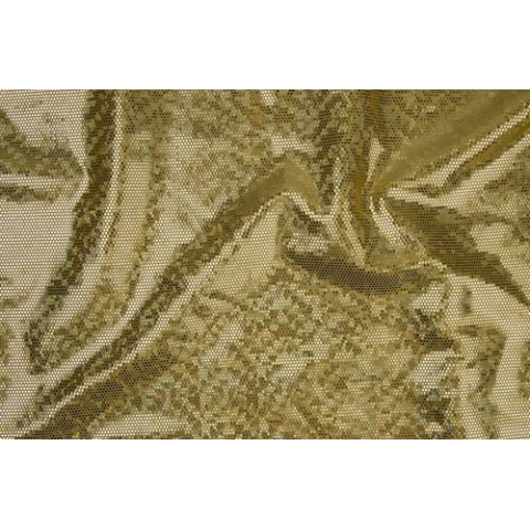 DISCO FOILED LYCRA gold-gold hologram