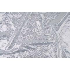DISCO FOILED LYCRA white-silver hologram