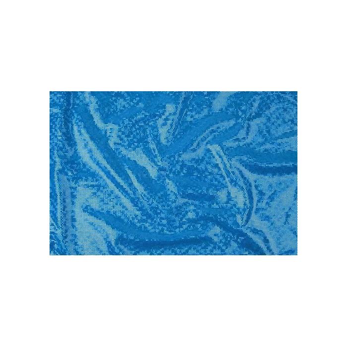 DISCO FOILED LYCRA turkus-aqua hologram
