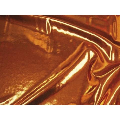 METALLIC DOT LYCRA copper on brown