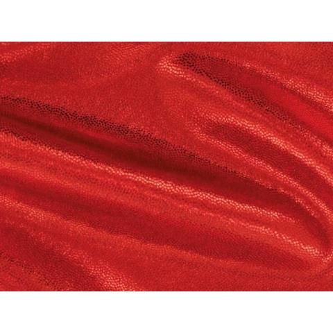 METALLIC DOT LYCRA flamenco on red