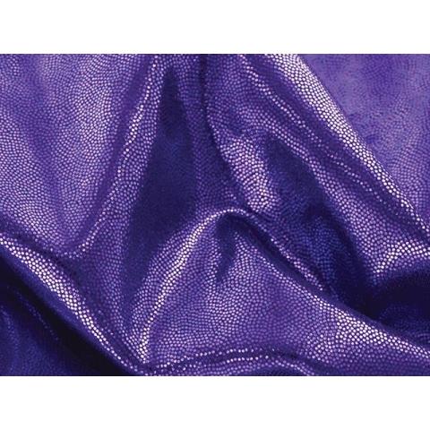 METALLIC DOT LYCRA purple on black